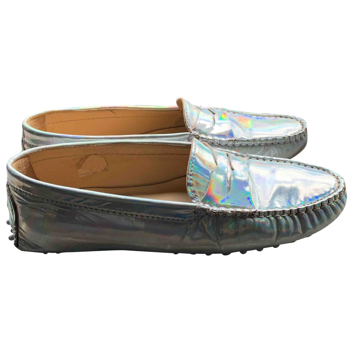 Bobbies \N Silver Patent leather Flats for Women 38 EU