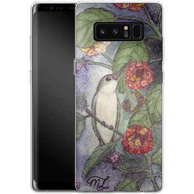Samsung Galaxy Note 8 Silikon Handyhuelle - Mary Layton - Flying birds von TATE and CO
