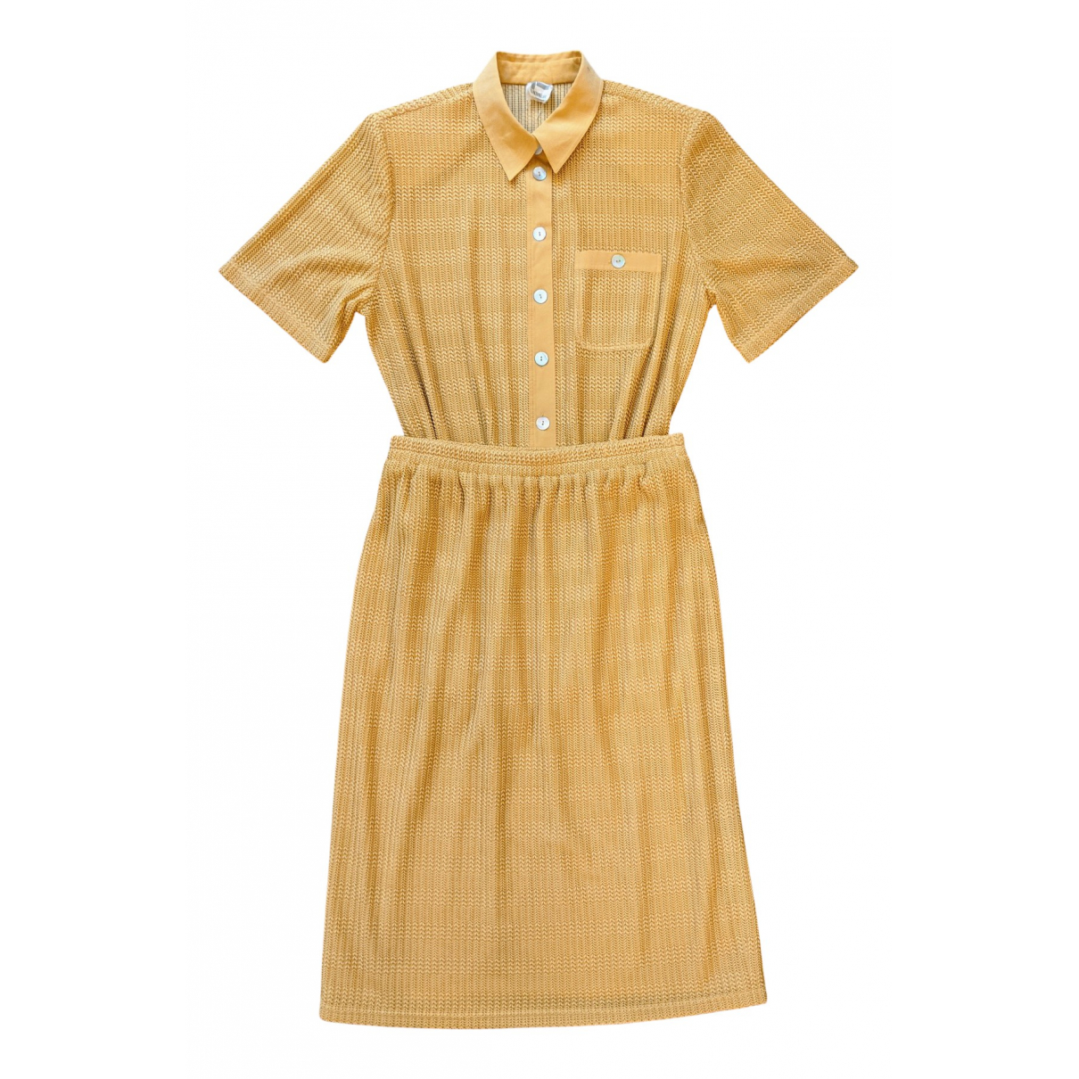 Non Signe / Unsigned \N Kleid in  Gelb Polyester