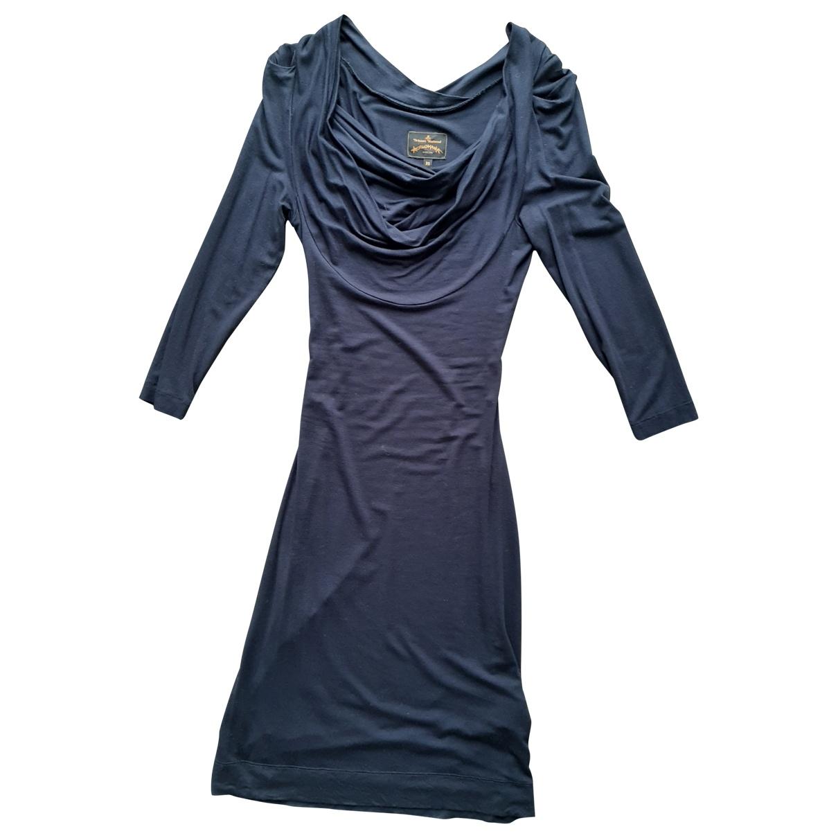 Vivienne Westwood Anglomania \N Kleid in  Marine Viskose