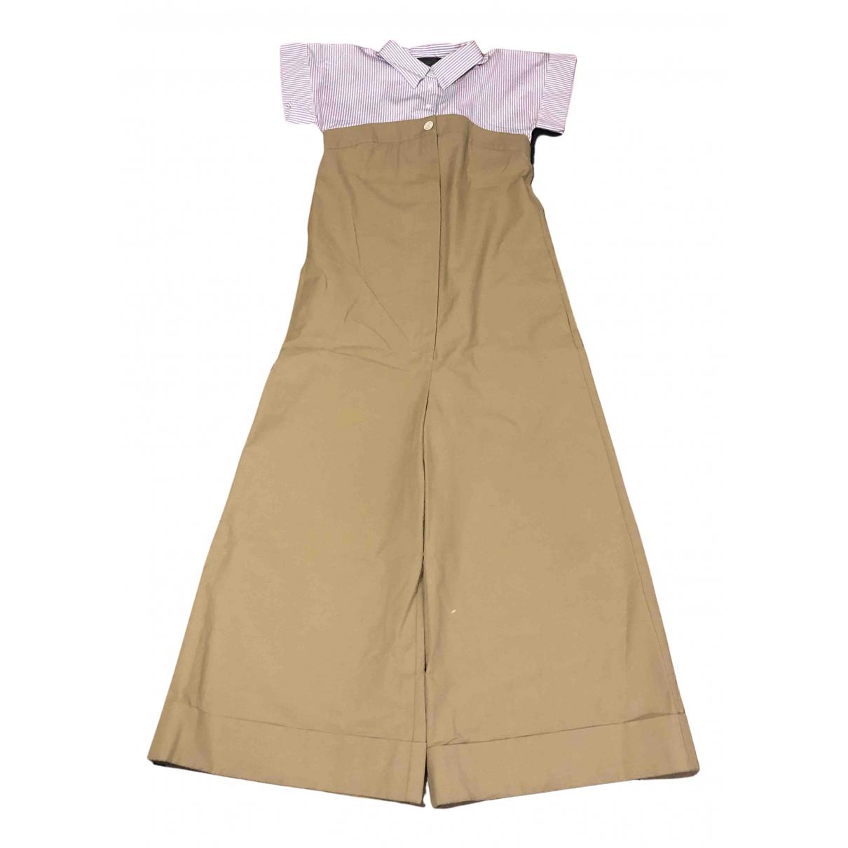 Erika Cavallini \N Kleid in  Beige Baumwolle