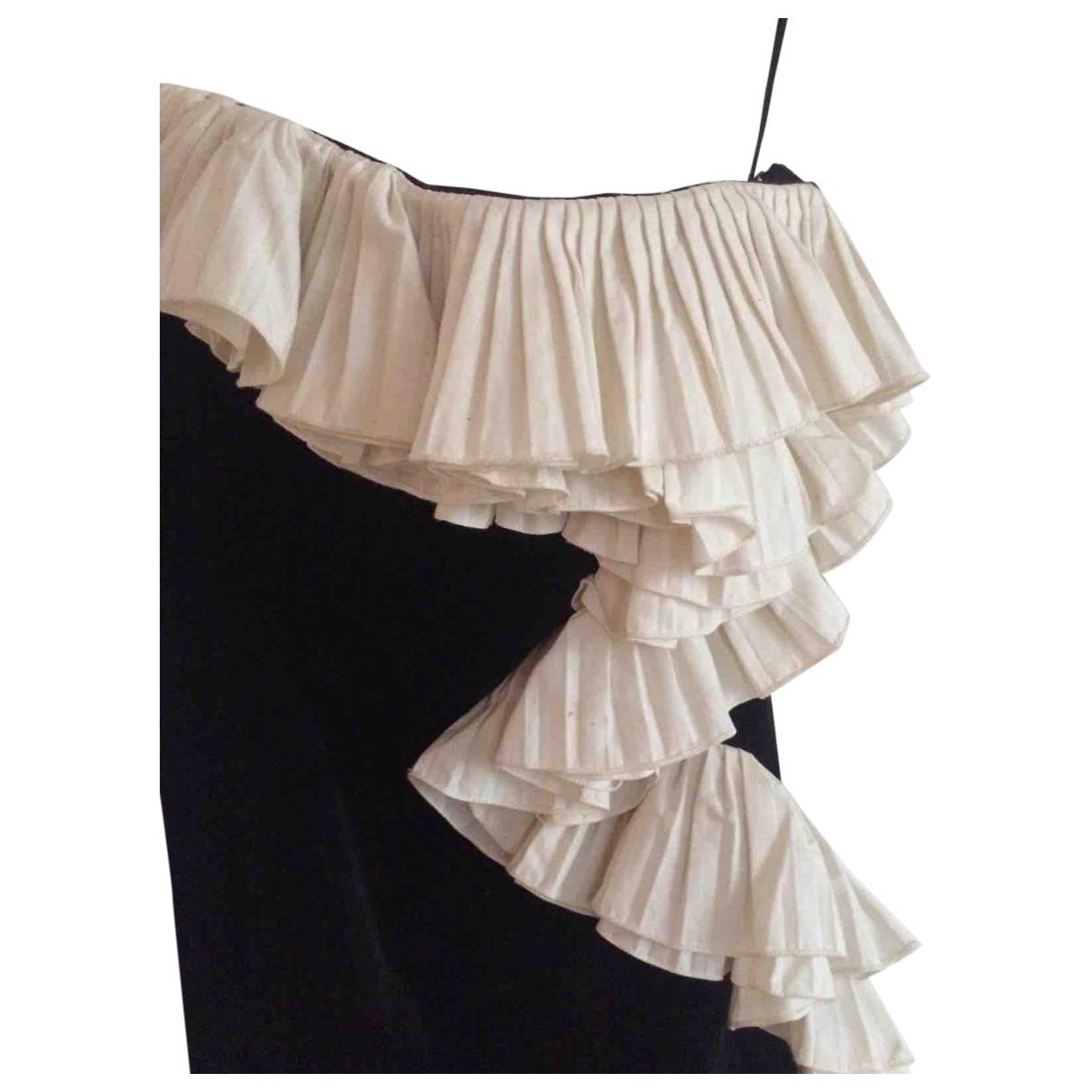 Lanvin \N Kleid in  Schwarz Samt