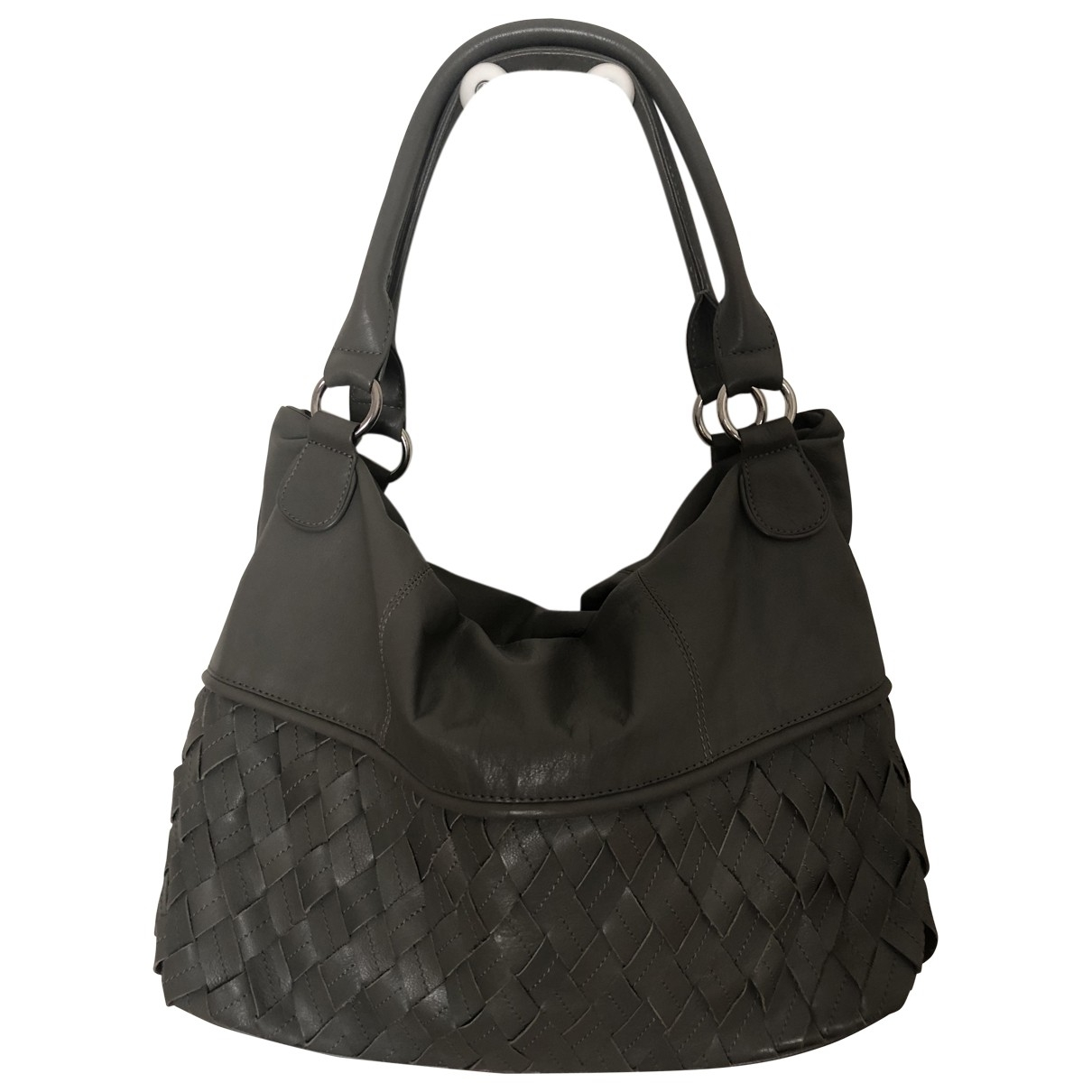 Non Signé / Unsigned \N Grey Leather handbag for Women \N