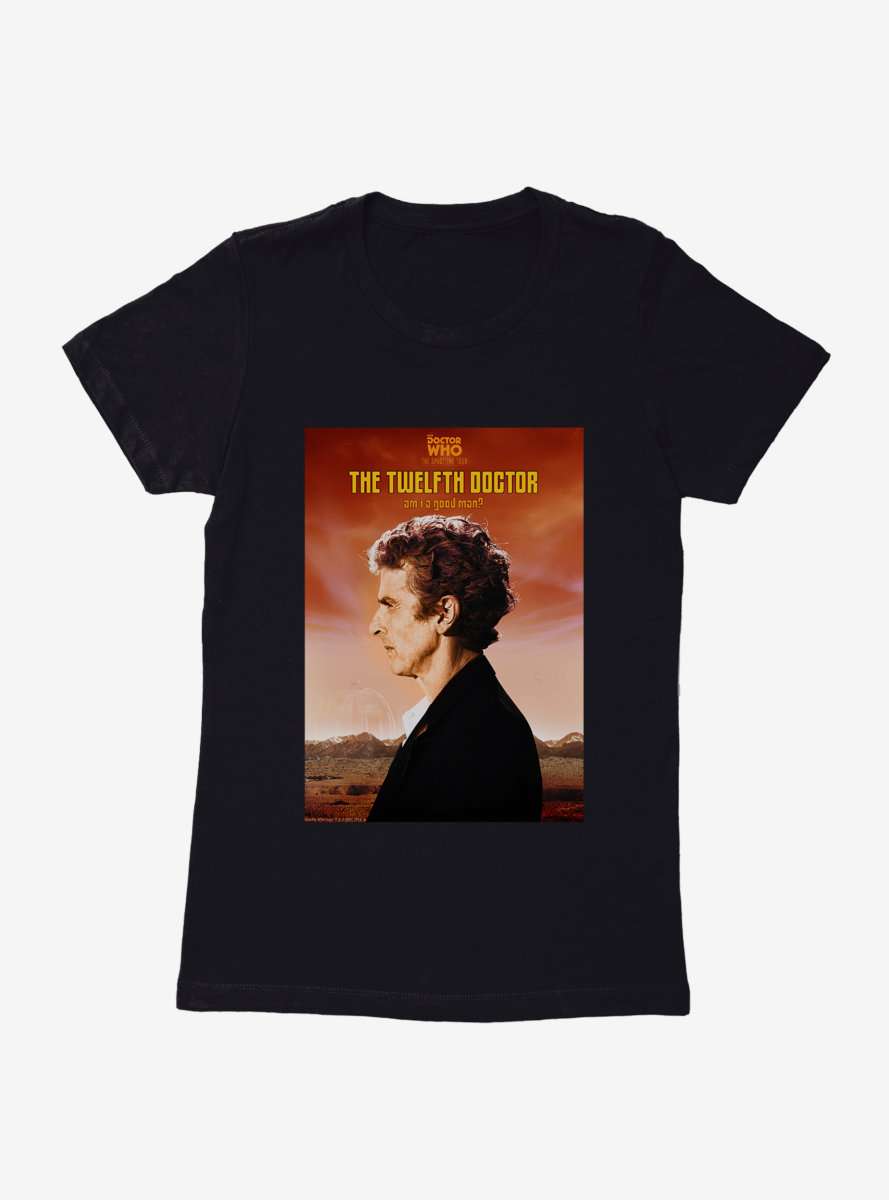 Doctor Who Twelfth Doctor Poster Profile Womens T-Shirt