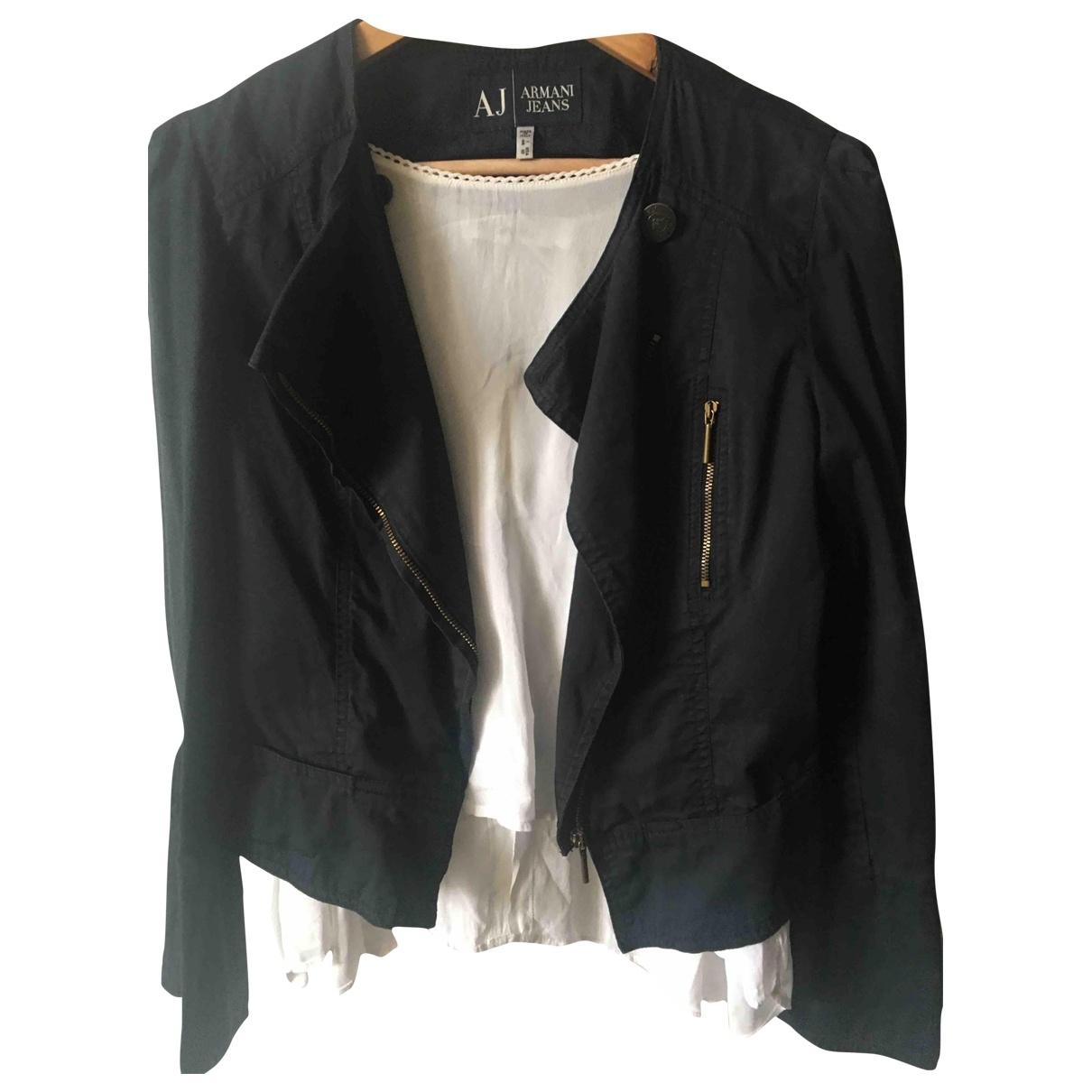 Armani Jeans \N Black Cotton jacket for Women 38 FR