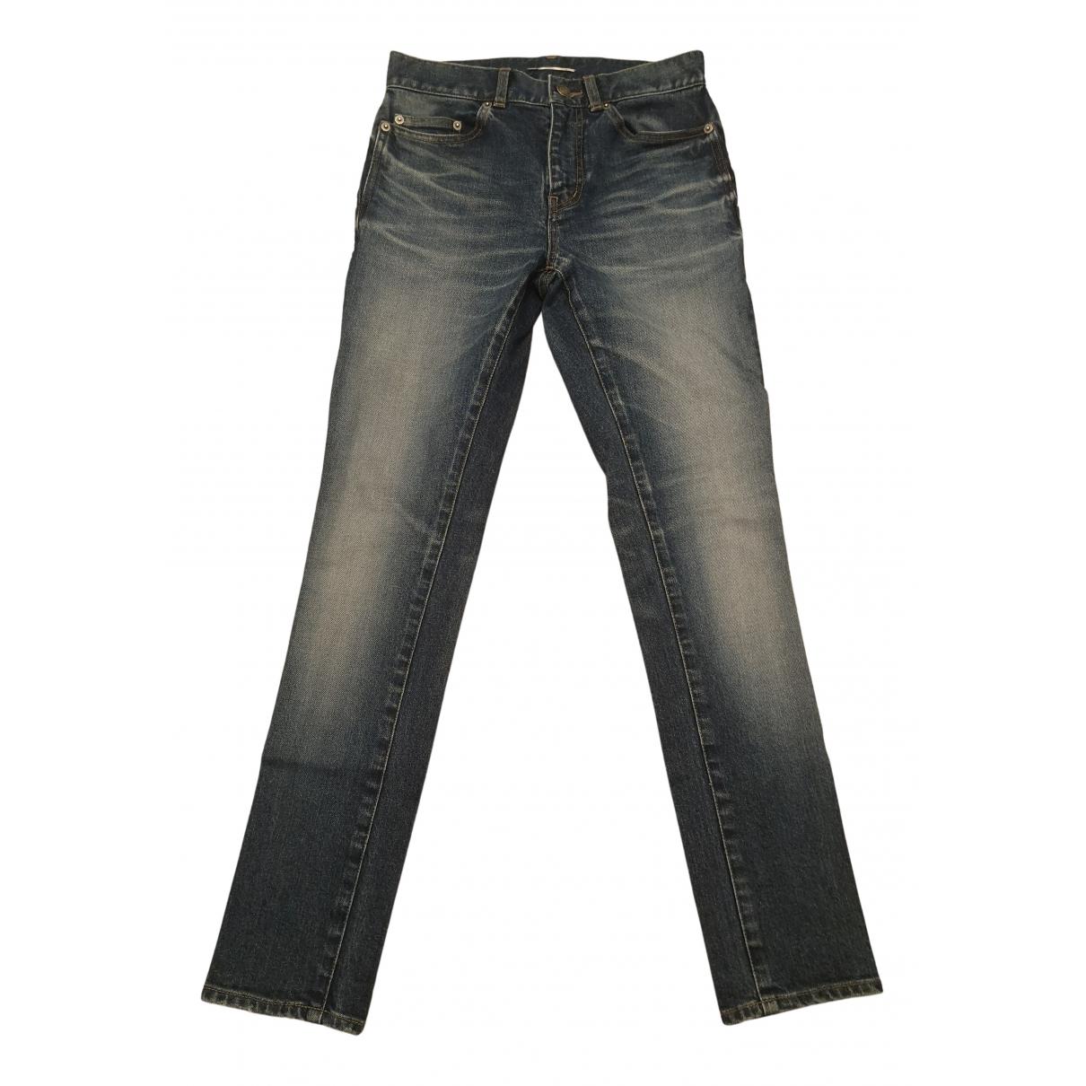 Saint Laurent \N Navy Cotton Jeans for Men 27 US