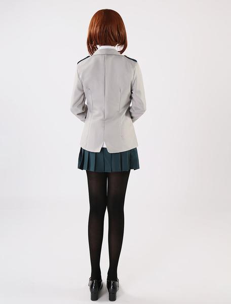 Milanoo Halloween Mi heroe Academia Boku ningun heroe Academia Uraraka Ochako Cosplay traje de uniforme escolar