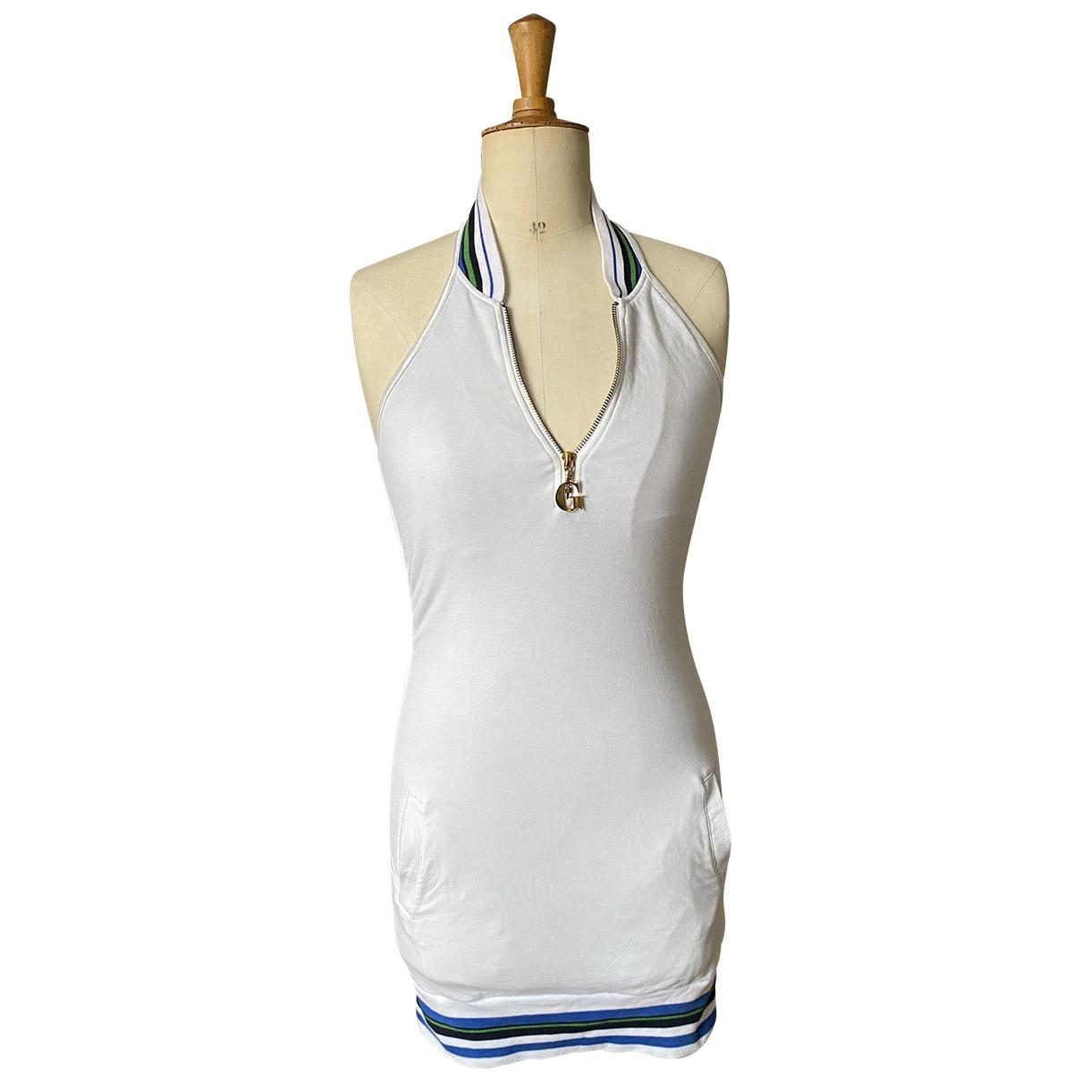 Guess - Robe   pour femme en coton - blanc