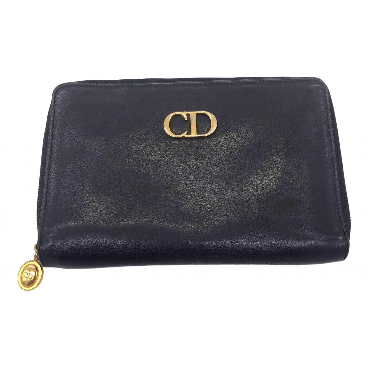 Christian Dior \N Kleinlederwaren in  Schwarz Leder