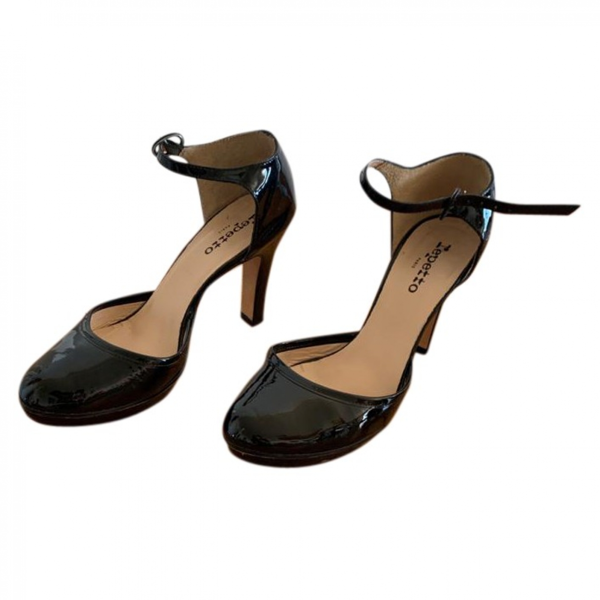Repetto \N Sandalen in  Schwarz Lackleder