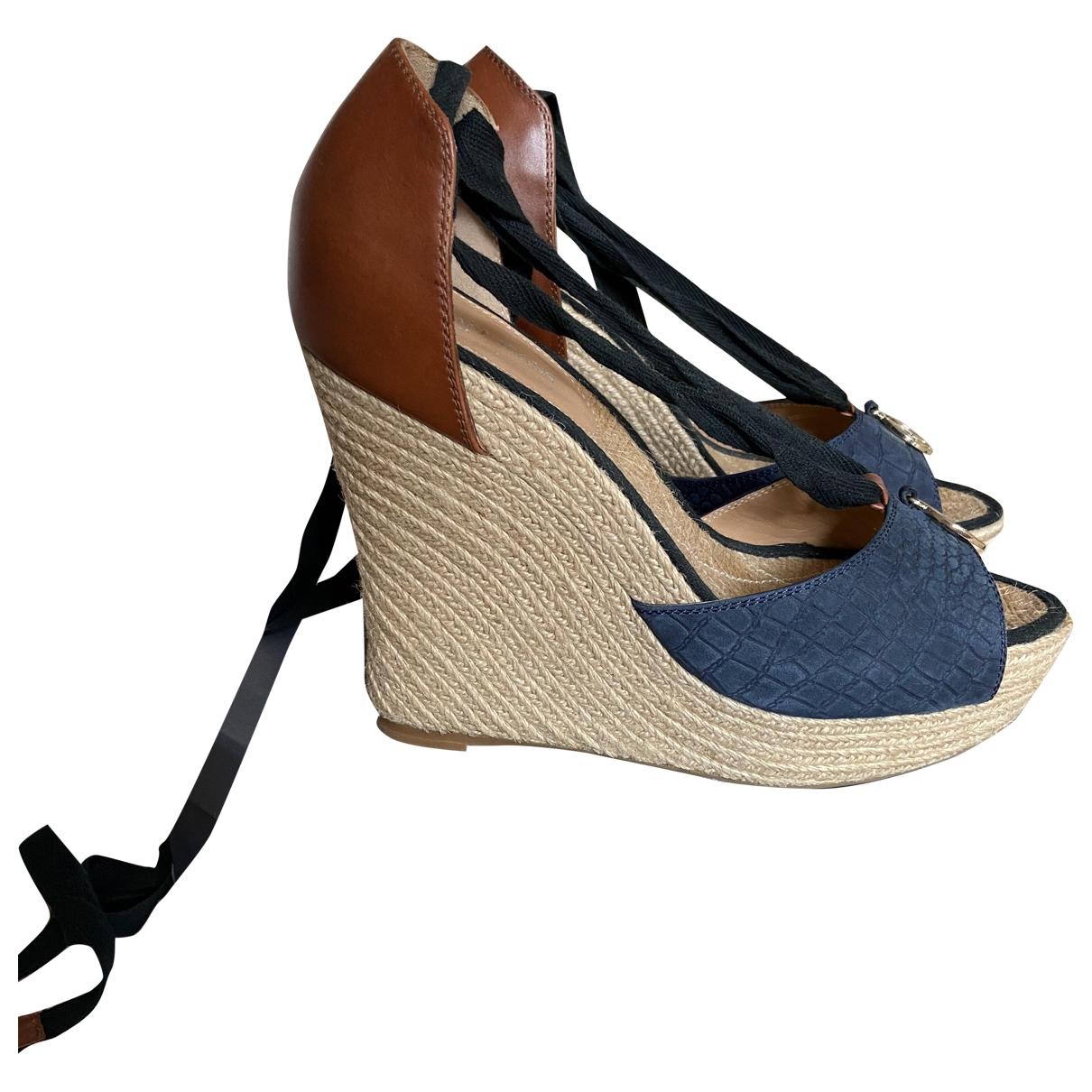 Armani Jeans \N Sandalen in  Blau Leder