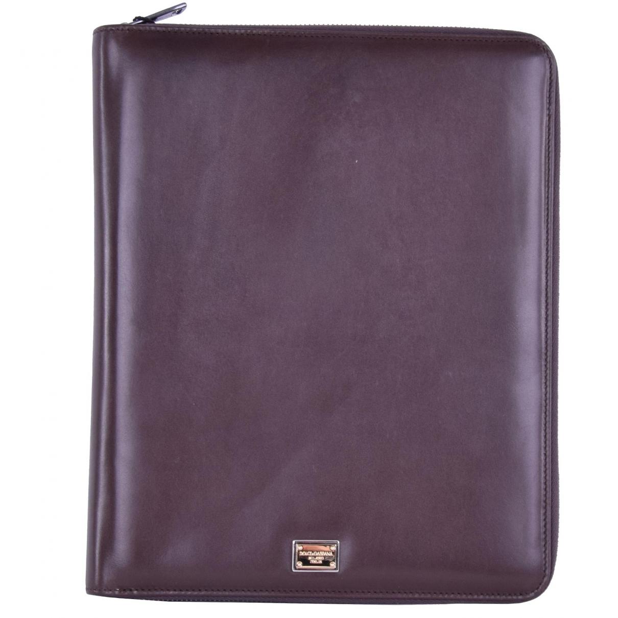 Dolce & Gabbana - Petite maroquinerie   pour femme en cuir - marron
