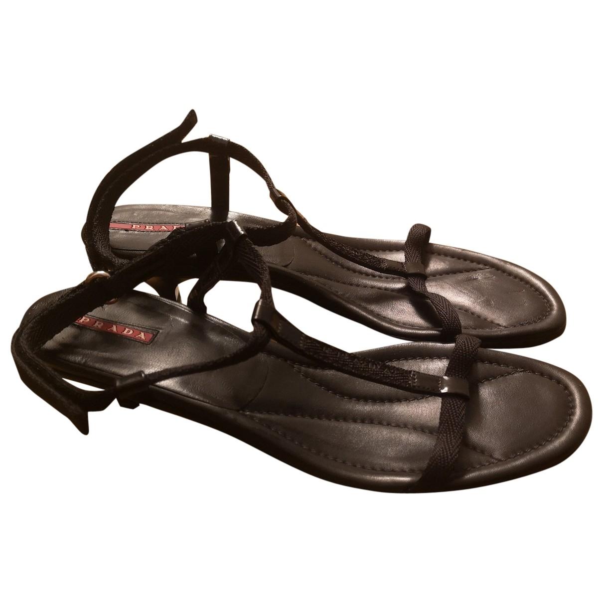 Prada \N Black Patent leather Sandals for Women 40 IT