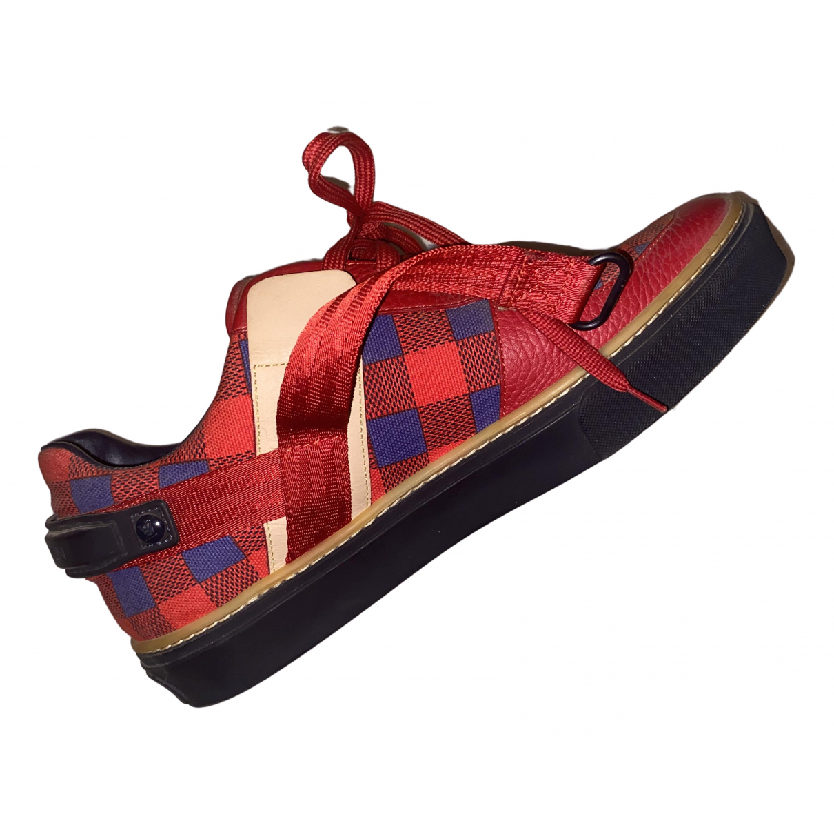 Louis Vuitton \N Sneakers in  Rot Leinen