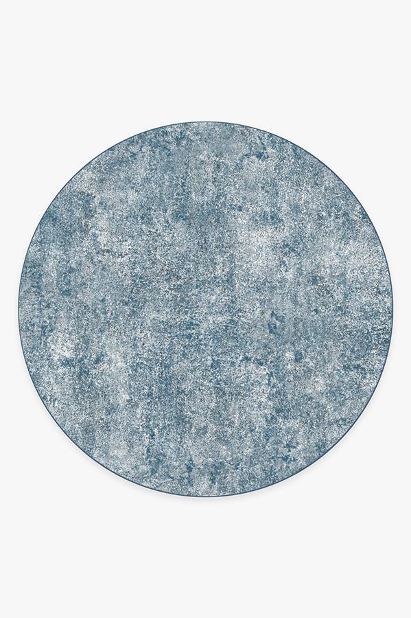 Washable Rug Cover | Serenata Slate Blue Rug | Stain-Resistant | Ruggable | 8' Round