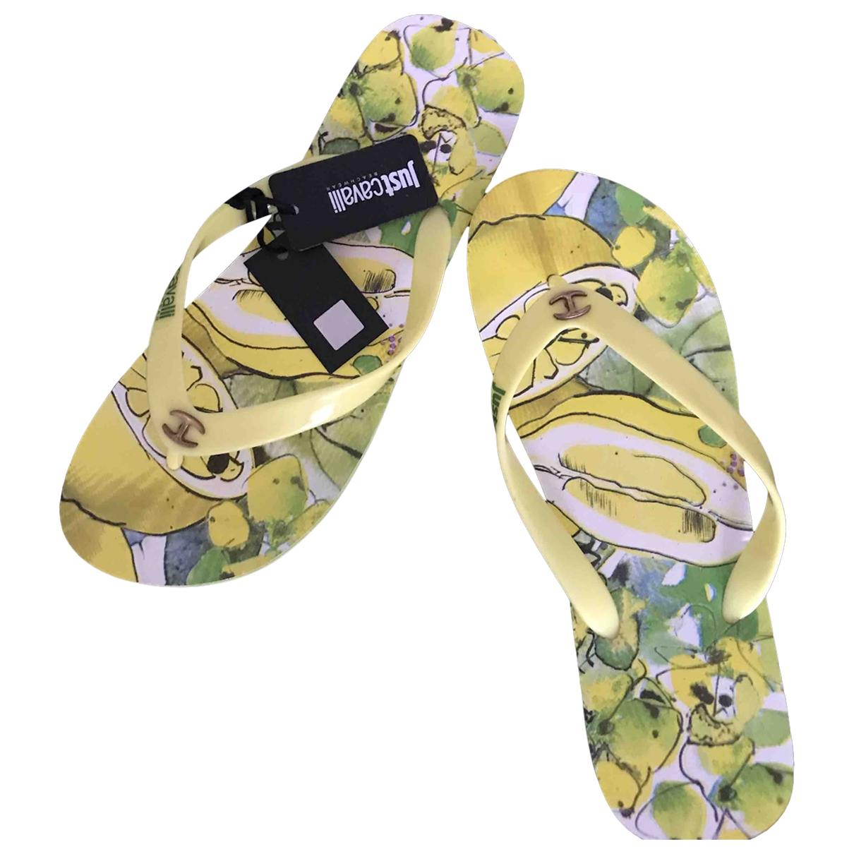 Just Cavalli \N Sandalen in  Gelb Kunststoff