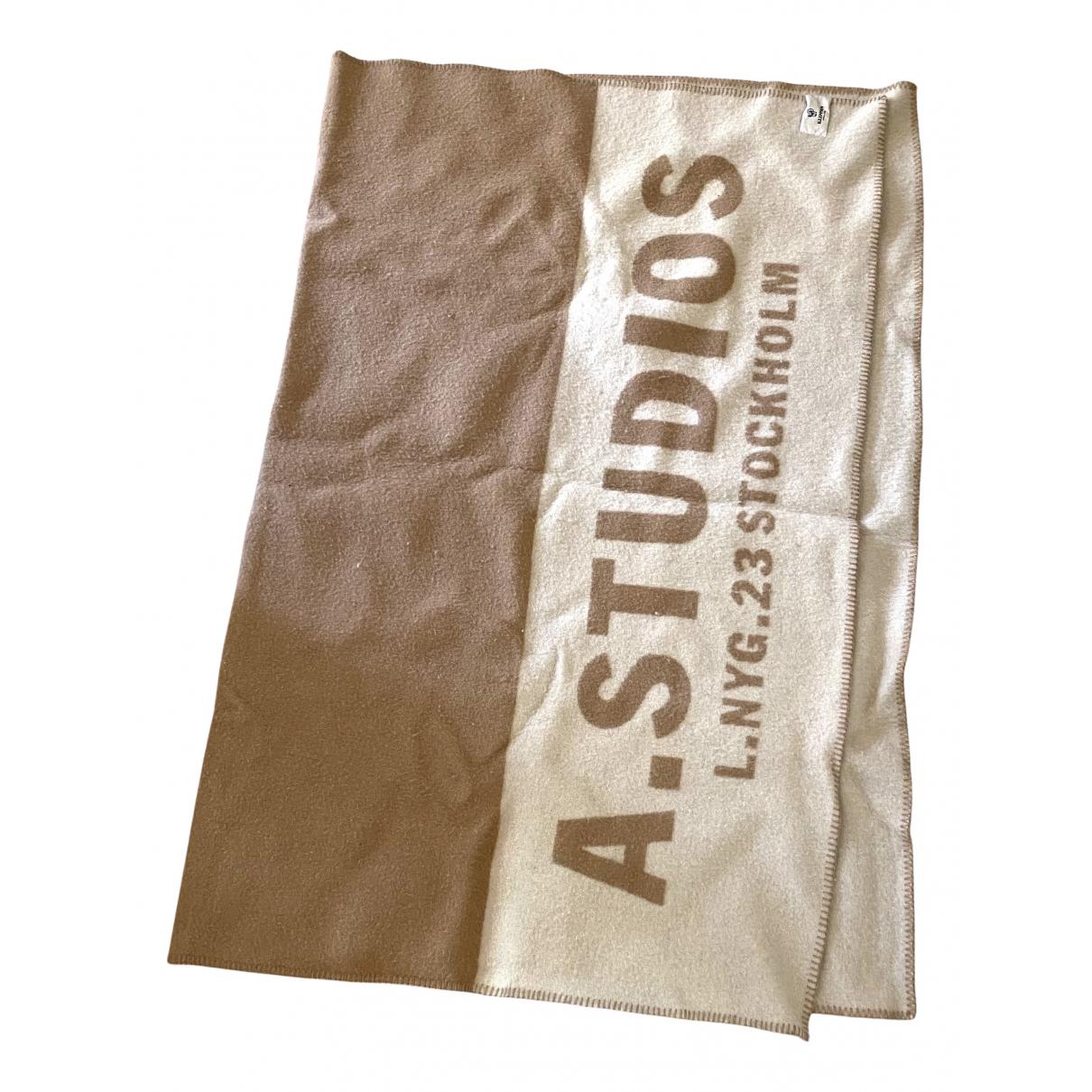 Acne Studios N Beige Wool scarf for Women N