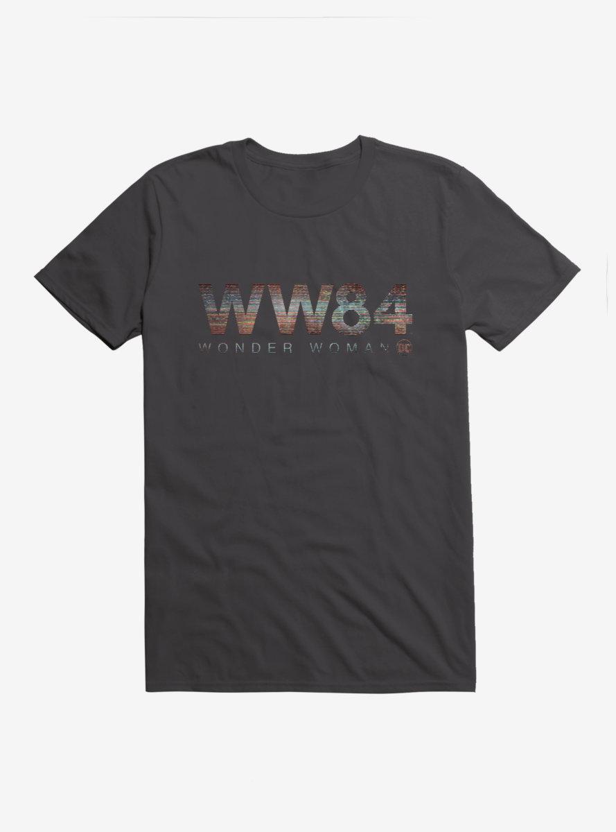 DC Comics Wonder Woman 1984 Bold Striped Logo T-Shirt