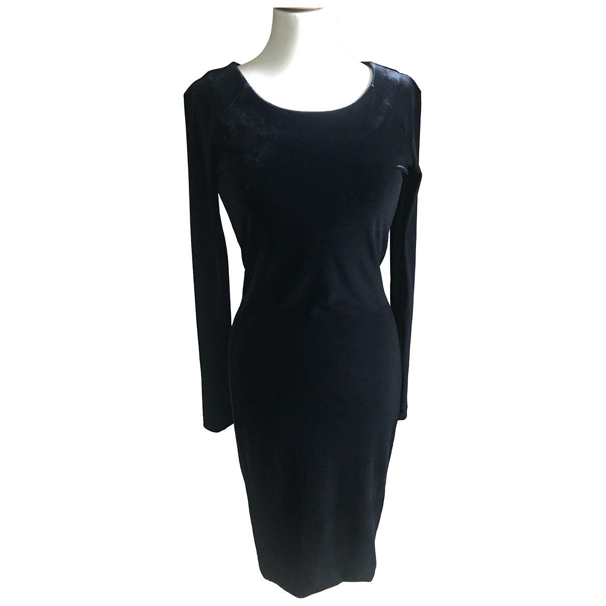 Velvet \N Kleid in  Schwarz Polyester