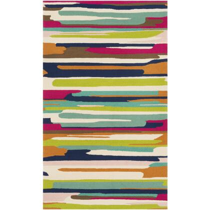 Rain RAI-1271 3' x 5' Rectangle Modern Rug in