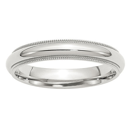 Personalized 4MM Sterling Silver Wedding Band, 12 , No Color Family
