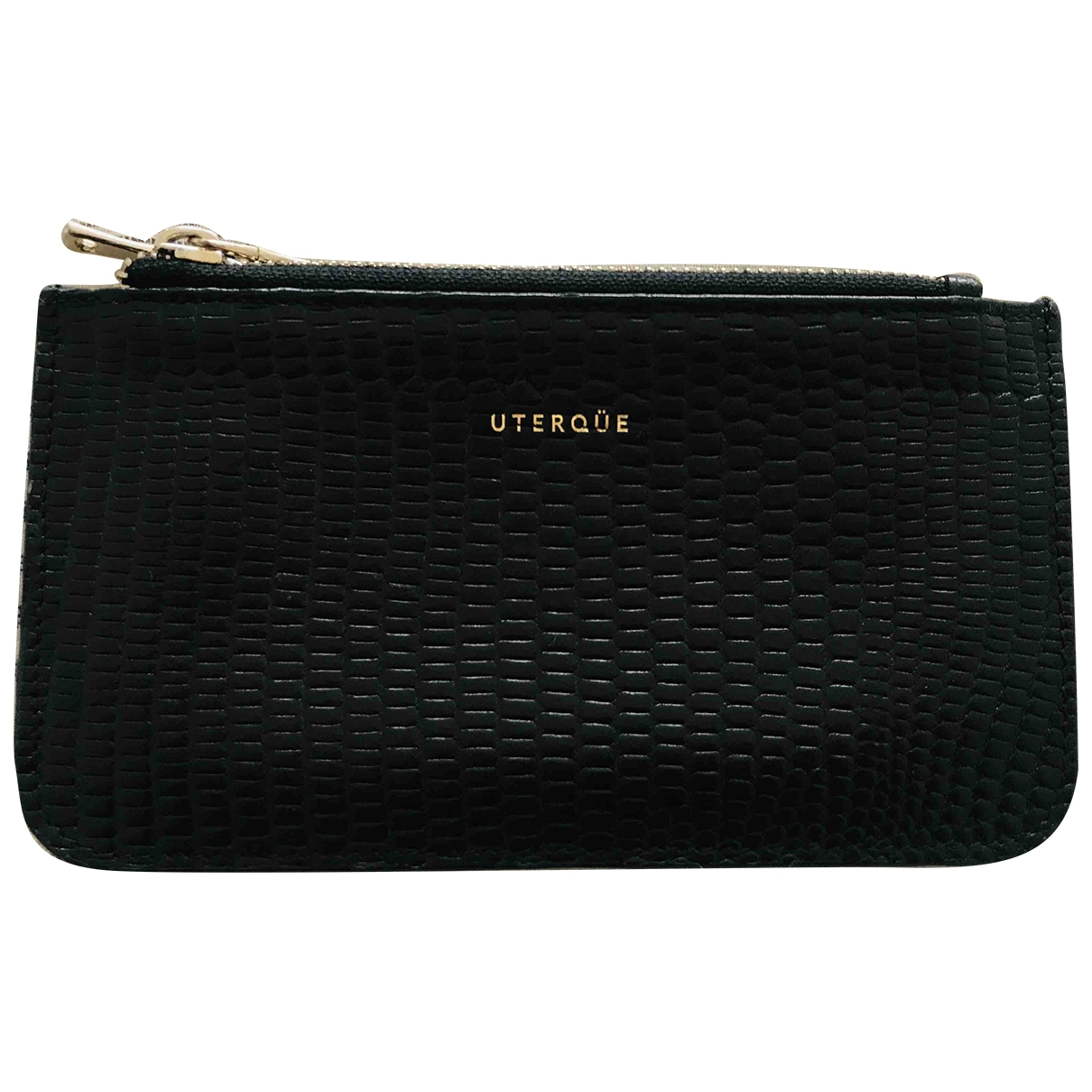 Uterque \N Black Leather Purses, wallet & cases for Women \N