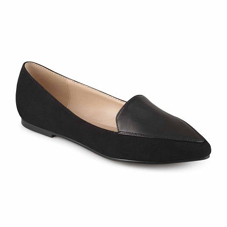Journee Collection Womens Kinley Loafers, 7 Medium, Black