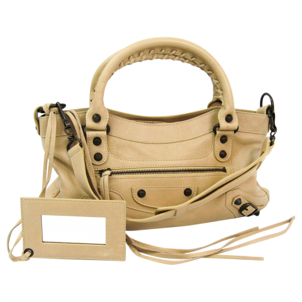 Balenciaga First Beige Leather handbag for Women \N