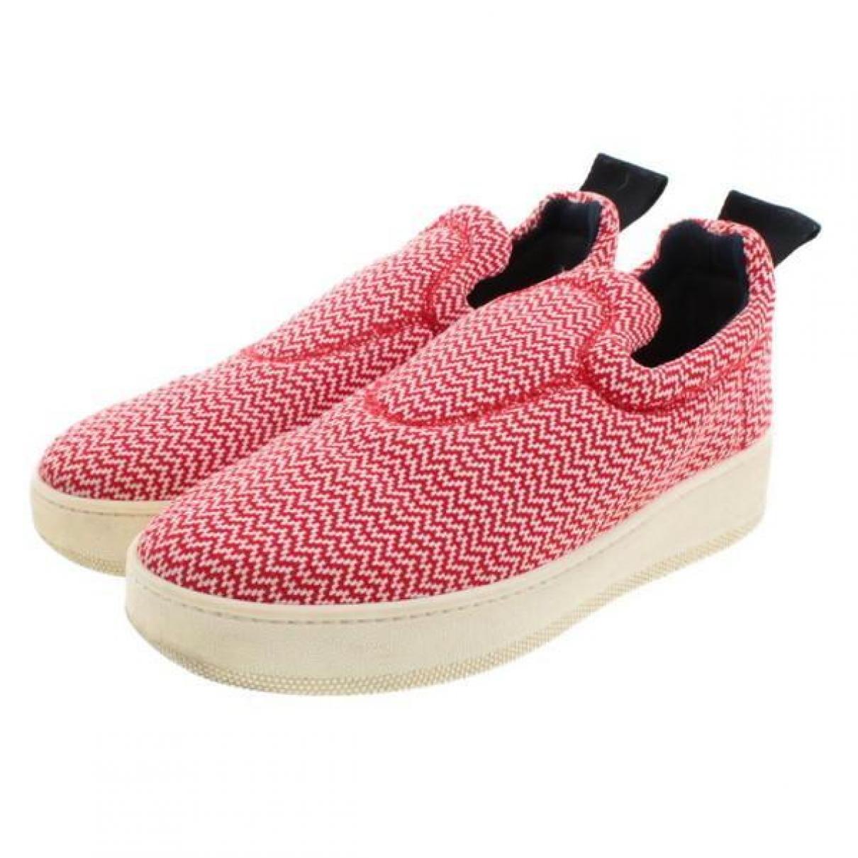 Celine \N Sneakers in  Rot Leinen