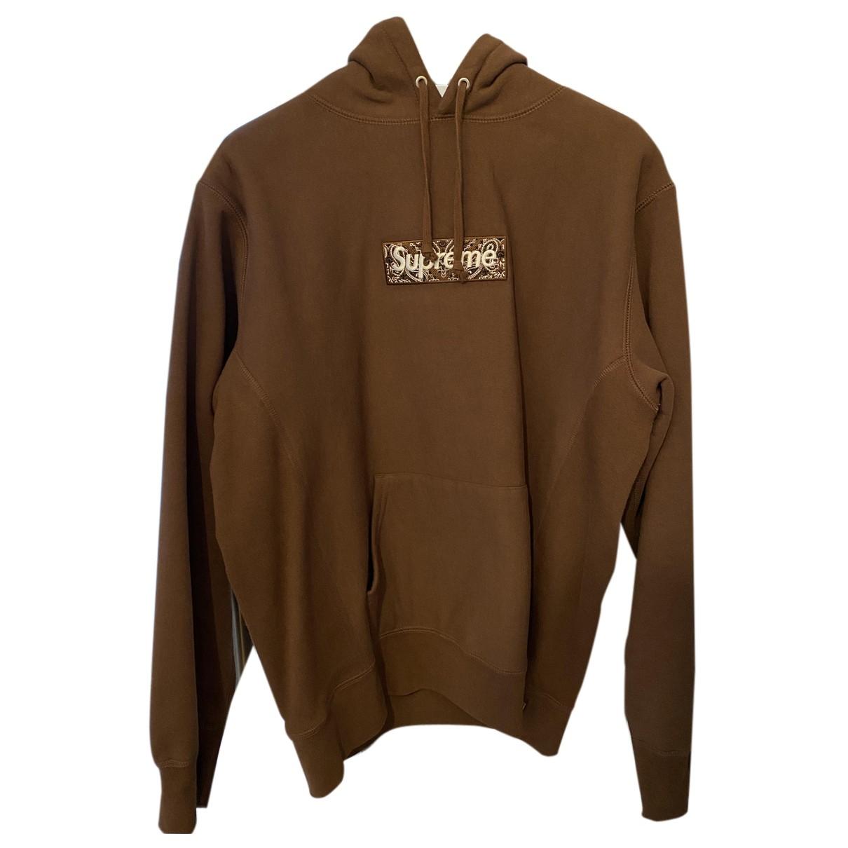 Supreme \N Pullover.Westen.Sweatshirts  in  Braun Baumwolle