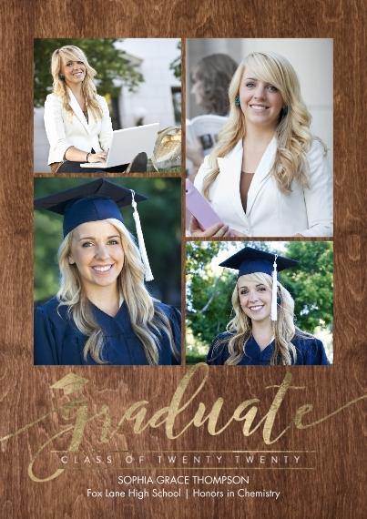 2020 Graduation Announcements Flat Glossy Photo Paper Cards with Envelopes, 5x7, Card & Stationery -Graduate Twenty Twenty by Tumbalina