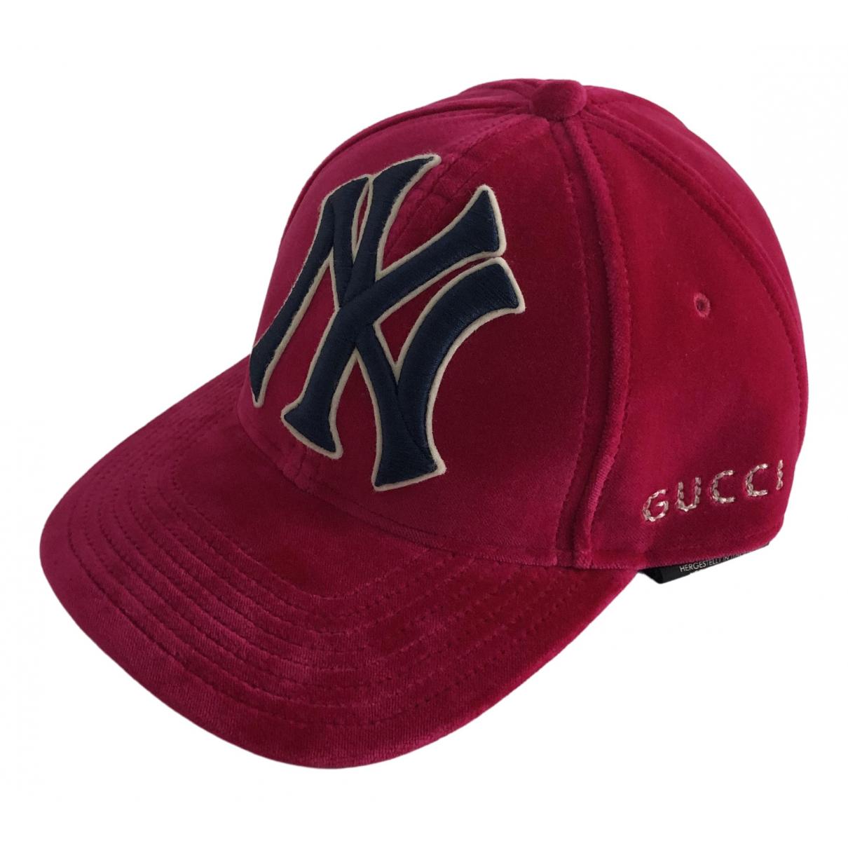Gucci - Chapeau & Bonnets   pour homme en coton - rouge