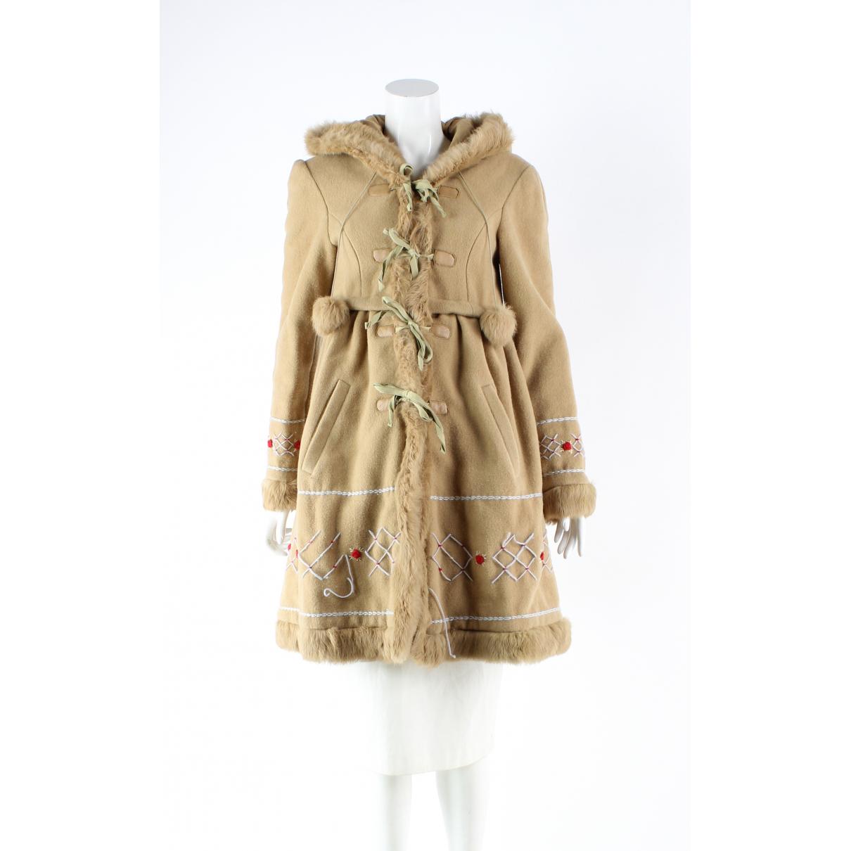 Manoush N Beige Wool coat for Women 38 FR