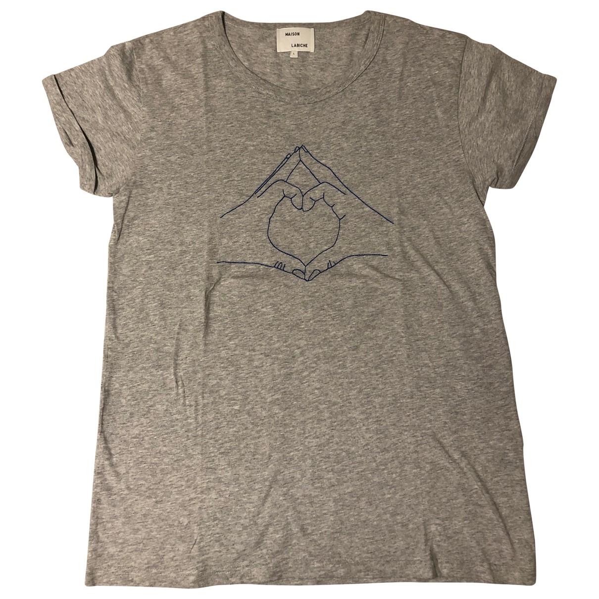 Maison Labiche \N Grey Cotton T-shirts for Men L International