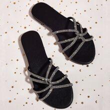 Sandalen mit Strass und Twist