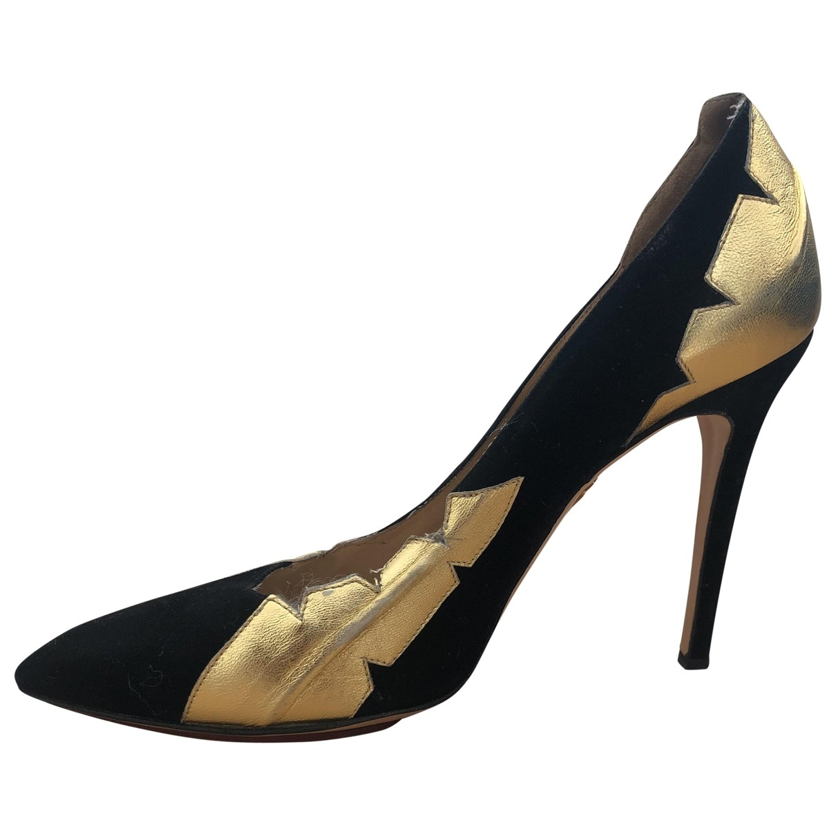 Charlotte Olympia \N Black Leather Heels for Women 39 EU