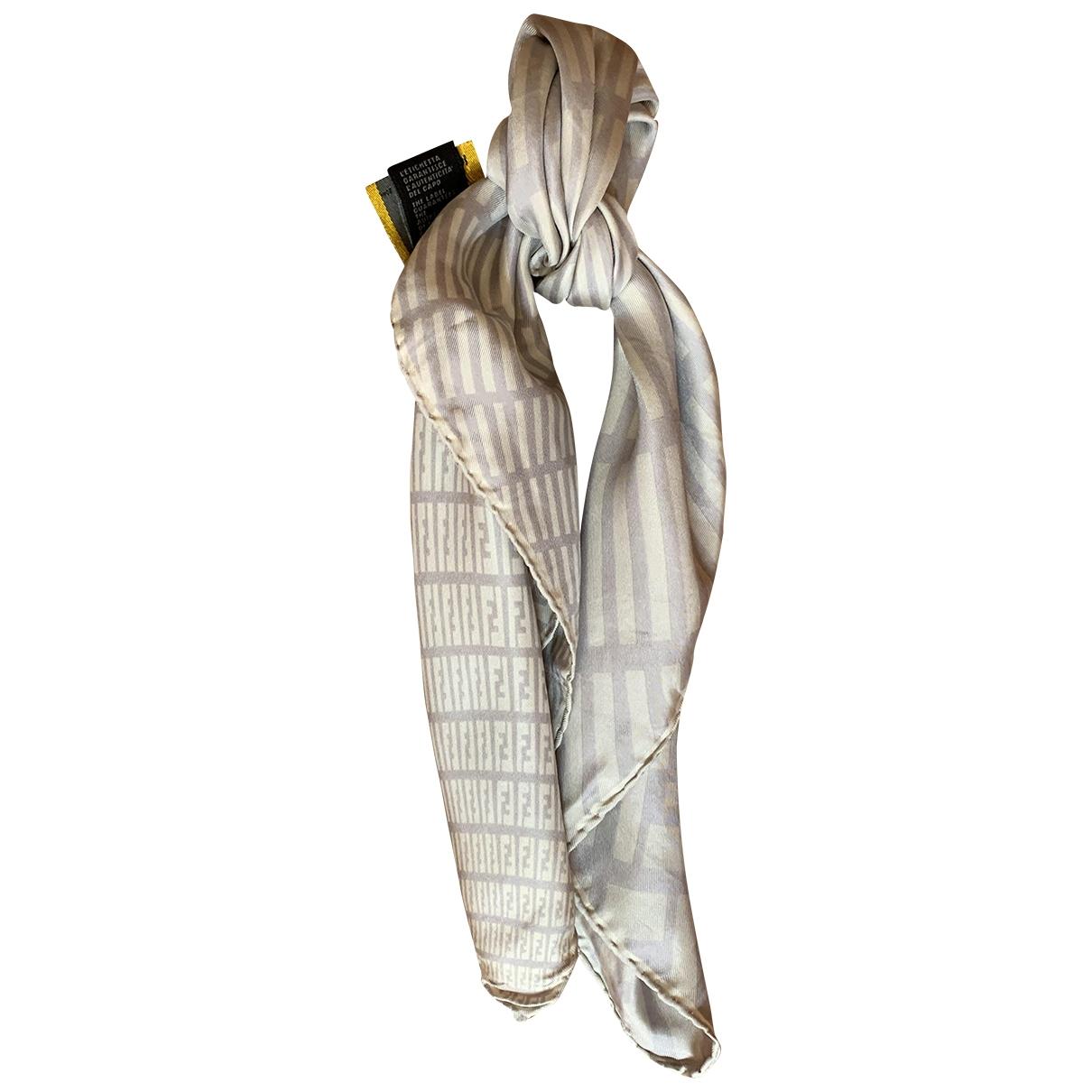 Fendi \N Beige Silk Silk handkerchief for Women \N