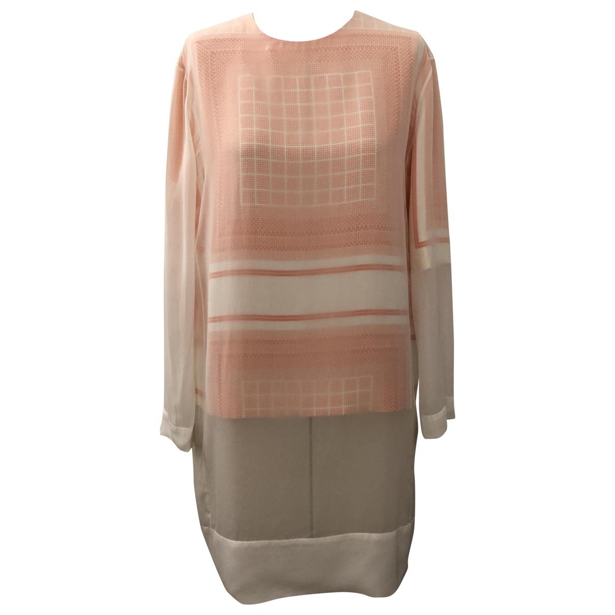 Celine \N White Silk dress for Women 38 FR
