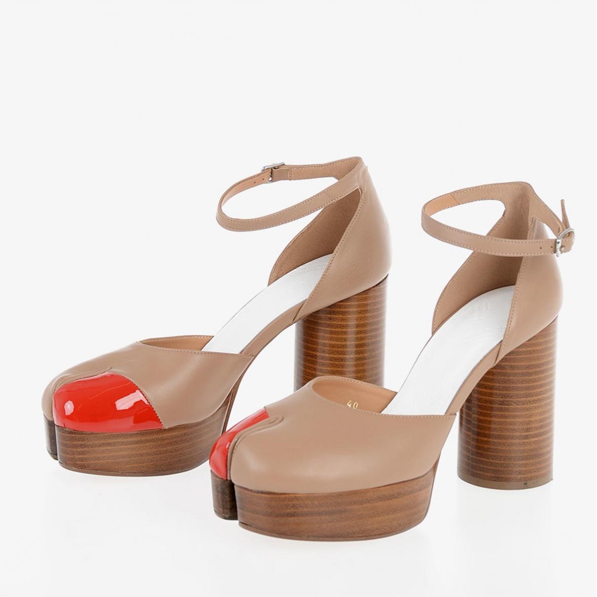 Maison Martin Margiela \N Camel Leather Heels for Women 38 EU