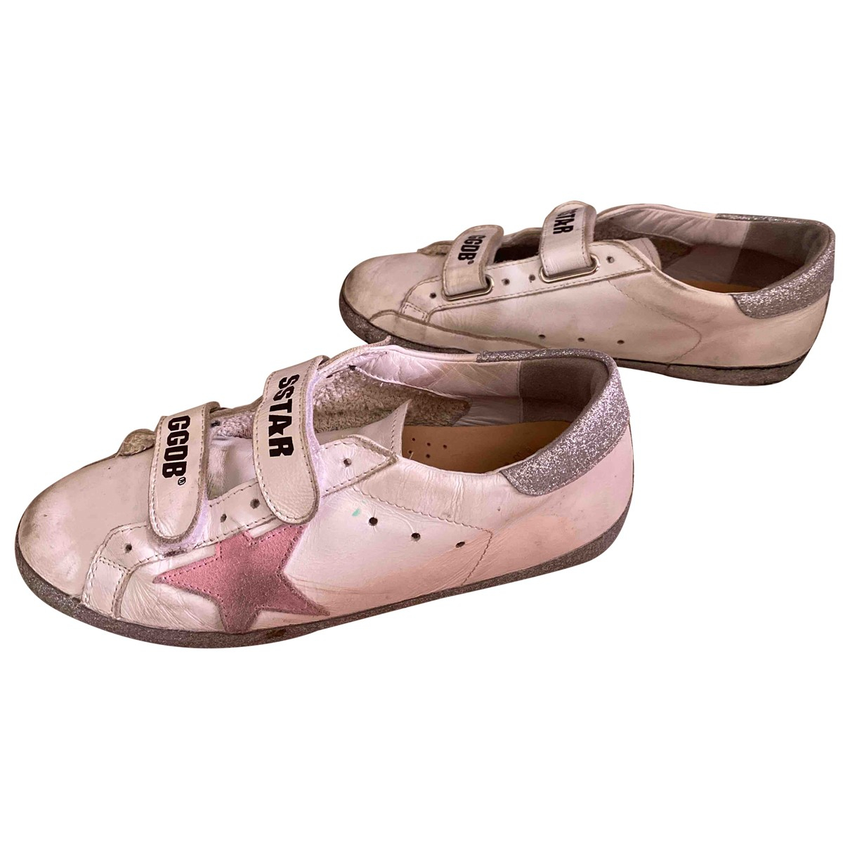 Golden Goose Stardan Sneakers in  Weiss Leder