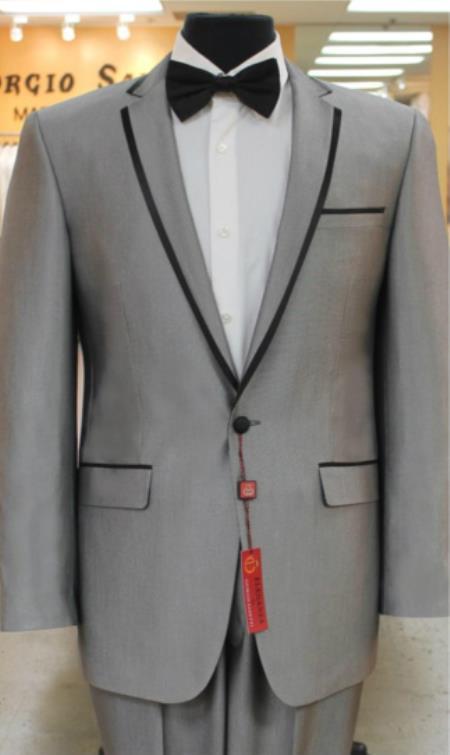 Grey~Gray Tuxedo 2 button notch collar or Formal Suit