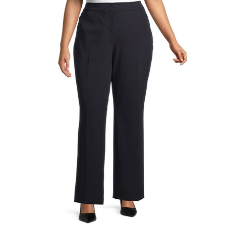 Worthington Womens Perfect Fit Trouser - Plus, 18w , Blue