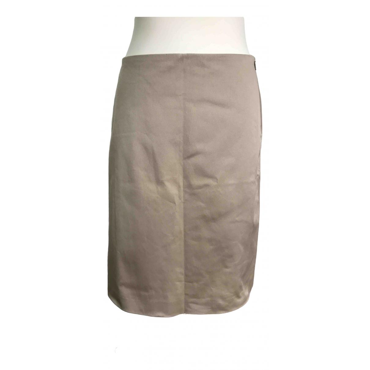 Boss - Jupe   pour femme en coton - beige