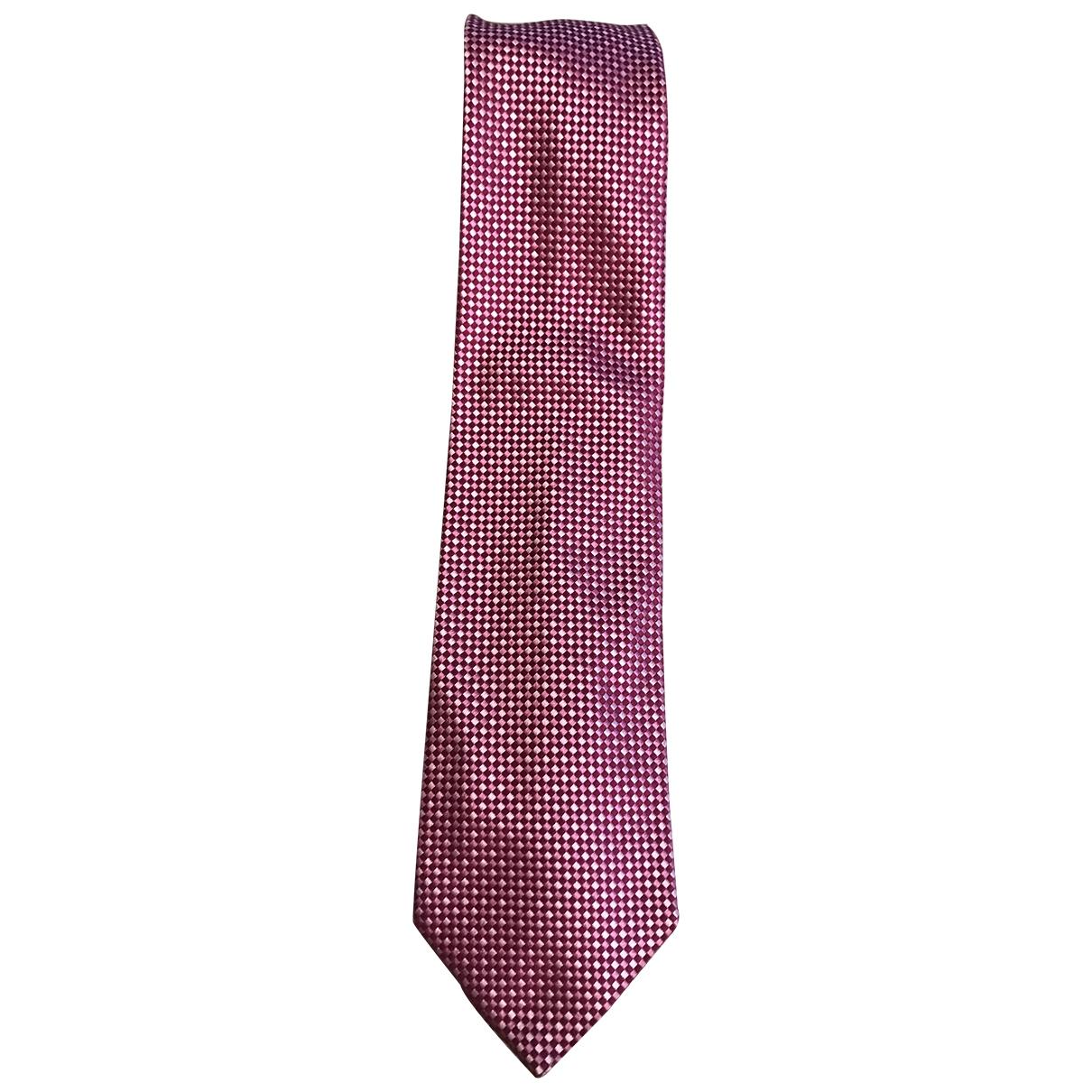 Jm Weston \N Krawatten in  Rosa Seide