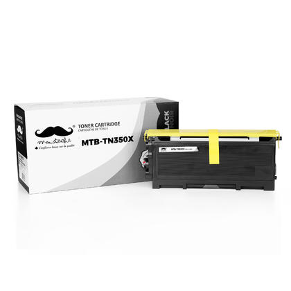 Compatible Brother TN350 X Black Toner Cartridge Extra High Yield - Moustache