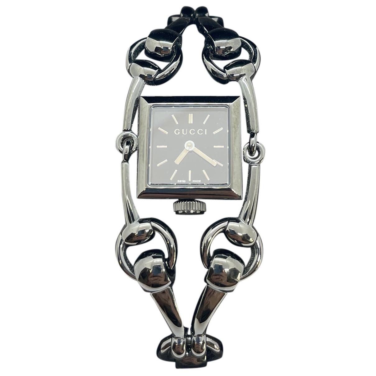 Gucci Signora Uhr in  Schwarz Stahl