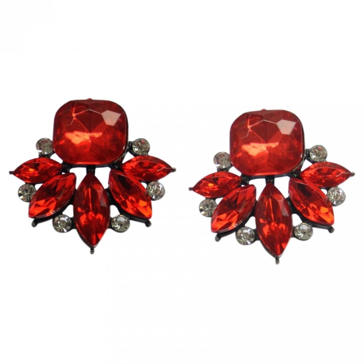 - Boucles doreilles   pour femme en cristal - rouge