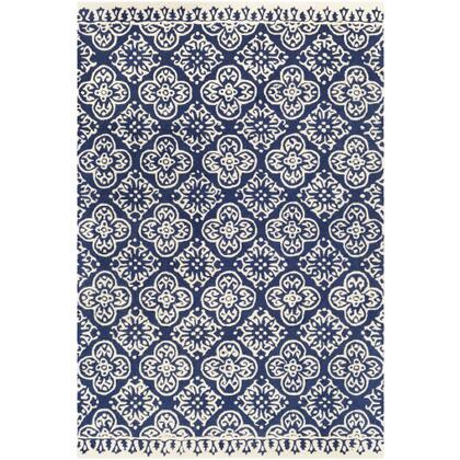Izmir IZM-2308 6 x 9 Rectangle Global Rug in Navy
