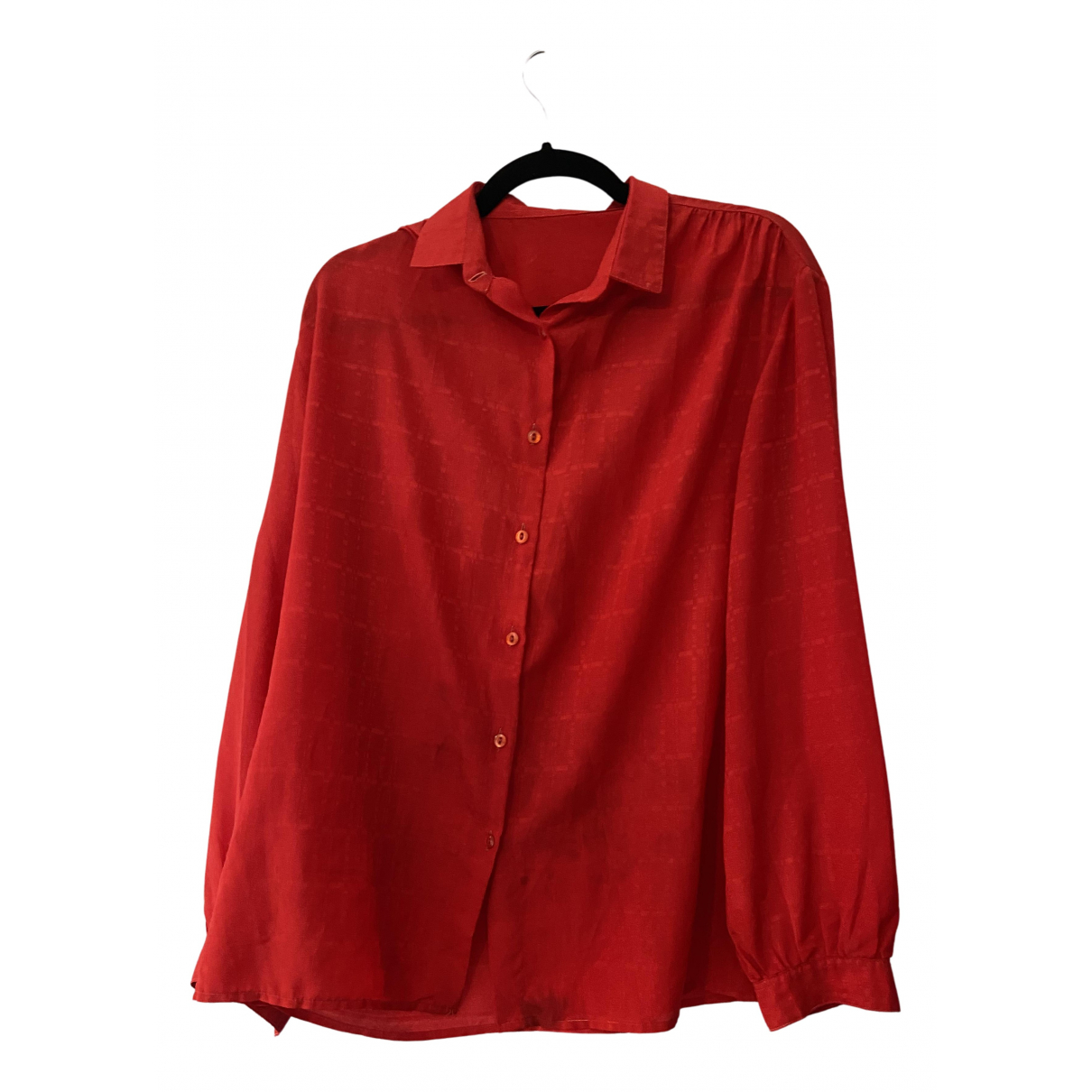 Non Signé / Unsigned N Red  top for Women XXXL International