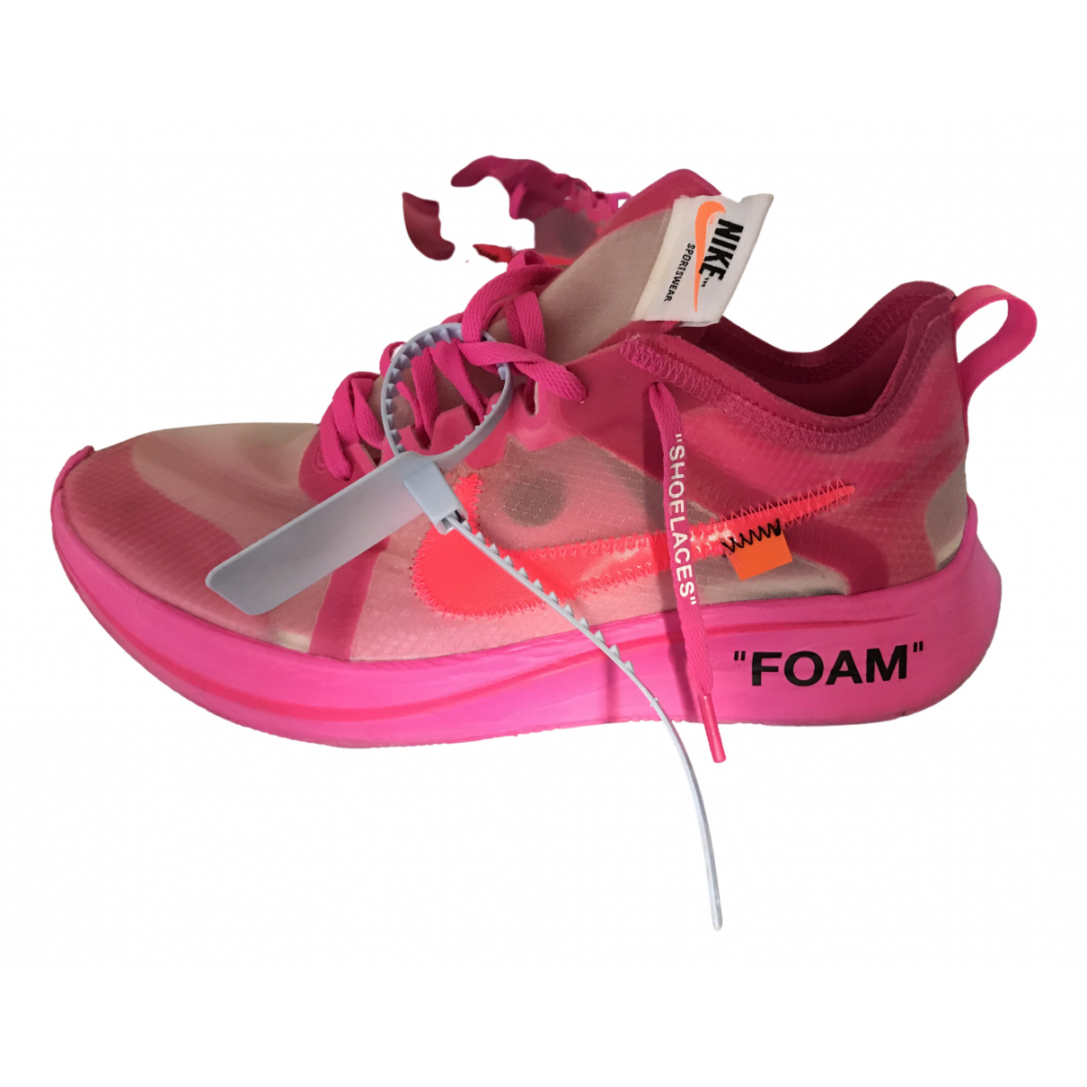 Nike X Off-white Zoom Fly Sneakers in  Rosa Kunststoff